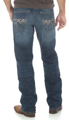 Wrangler Rock 47 Men's Relaxed Boot Cut Dark Wash Jeans, , hi-res