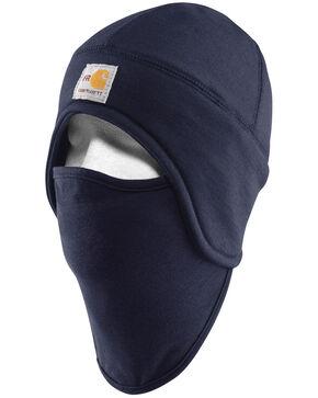 Carhartt Flame Resistant 2-in-1 Fleece Hat, Navy, hi-res