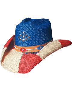 Bullhide Patriot Straw Cowgirl Hat, , hi-res