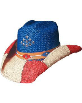 Bullhide Patriot Straw Cowgirl Hat, Multi, hi-res