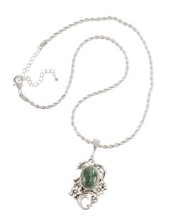 Montana Silversmiths Faux Turquoise Floral Pendant Necklace, , hi-res