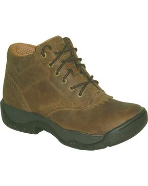 Twisted X All Around Lace-Up Work Boots - Round Toe, Distressed, hi-res