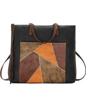 American West Women's Soft Zip Top Bagpack, Black, hi-res