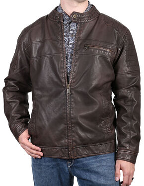 Cody James Men's Easy Rider Jacket, Brown, hi-res