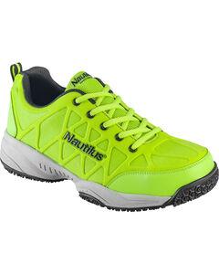 Nautilus Men's Neon Green Athletic Work Shoes - Composite Toe , , hi-res