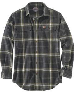 Carhartt Men's Black Hubbard Plaid Shirt , Black, hi-res