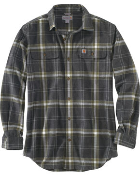 Carhartt Men's Black Hubbard Plaid Shirt , Black, hi-res