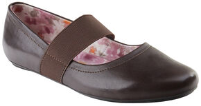 Eastland Women's Brown Sable Mary Jane Slip-On Shoes, Brown, hi-res