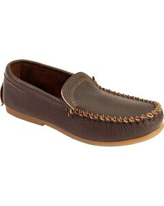 Men's Minnetonka Venetian Slip On Moccasins, Dark Brown, hi-res