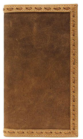 Ariat Leather Laced Rodeo Wallet, Distressed, hi-res