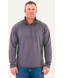 Noble Outfitters Men's Performance Quarter Zip Mock Pullover , Charcoal, hi-res