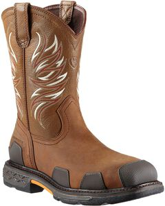 Ariat Overdrive Pull-On Work Boots - Composition Toe, , hi-res