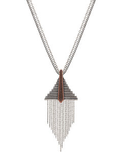 Wrangler Rock 47 Points of Aztec Fringed Pyramid Necklace, , hi-res