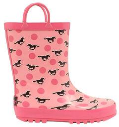 Blazin Roxx Jaylee Horse Rain Boots - Round Toe, , hi-res