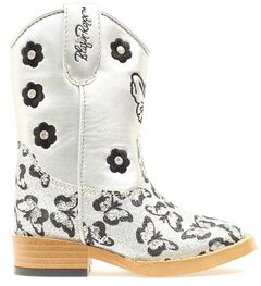Blazin Roxx Toddler Girls' Pecos Glitter Zipper Cowgirl Boots - Square Toe, , hi-res
