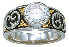 Montana Silversmiths Women's Crystal Shine Solitaire Ring, , hi-res