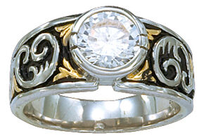 Montana Silversmiths Women's Crystal Shine Solitaire Ring, Multi, hi-res