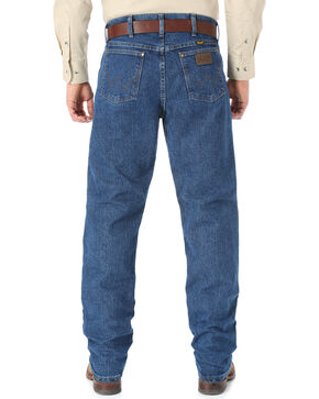 Wrangler Cool Vantage 36 Dark Stonewash Jeans - Slim Fit - Big and Tall, Dark Stone, hi-res