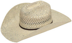 Twister Men's Twisted Weave Straw Cowboy Hat, , hi-res