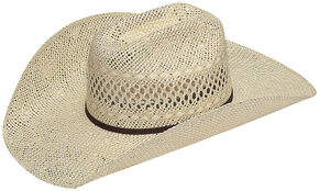 Twister Men's Twisted Weave Straw Cowboy Hat, Natural, hi-res