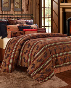 HiEnd Accents Bayfield Moose 5-piece Queen Duvet Set, , hi-res