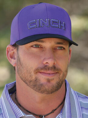 Cinch Men's Purple FLEXFIT® Cap, Purple, hi-res