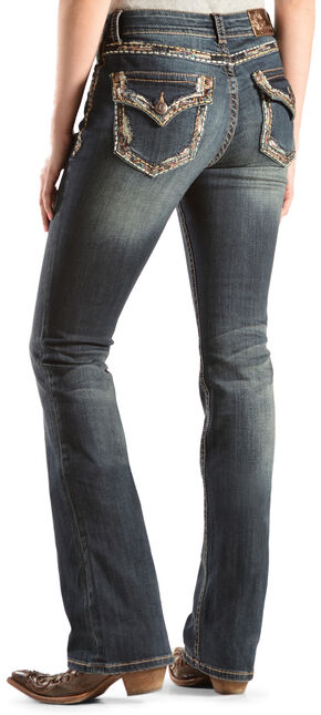 Grace in L.A. Women's Stella Embellished Bootcut Jeans - Extended Sizes, Denim, hi-res