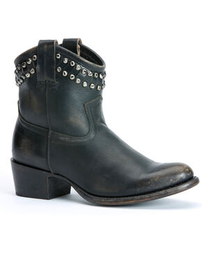 Frye Diana Cut Studded Short Boots, Black, hi-res