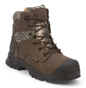 Justin JOW Men's Work Tek Outdoor Bump Waterproof Boots, Brown, hi-res