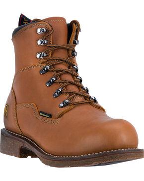 Dan Post Honey Tan Detour Waterproof Logger Boots - Round Toe , Honey, hi-res