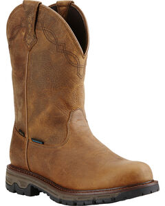 Ariat Men's Insulated Conquest Waterproof Pull-On Hunting Boots - Round Toe, , hi-res