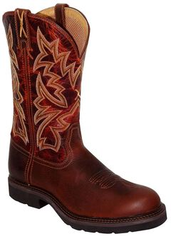 Twisted X Western Pull-On Work Boots - Round Toe, , hi-res