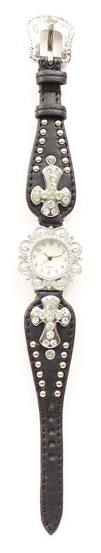 Blazin Roxx Studded Cross Concho Watch, , hi-res