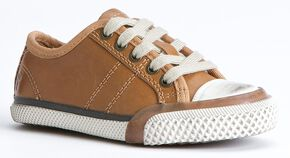 Frye Boys' Greene Low Lace Shoes, Brown, hi-res
