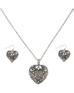 Shyanne Women's Filigree Heart Jewelry Set, , hi-res