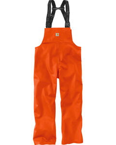 Carhartt Men's Orange Belfast Bib Overalls , , hi-res
