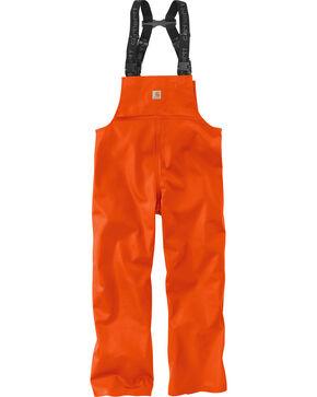 Carhartt Men's Orange Belfast Bib Overalls - Big & Tall, Orange, hi-res