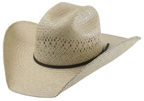 Tony Lama Rio Jute Straw Cowboy Hat, Natural, hi-res