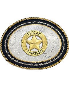 Montana Silversmiths Texas Rangers Buckle, , hi-res