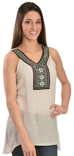 Wrangler Women's Jeweled Tank Top, , hi-res
