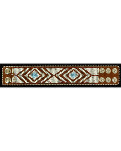 Blazin Roxx Beaded Tribal Cuff Bracelet, , hi-res
