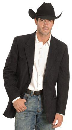 Black Microsuede Western Jacket , , hi-res