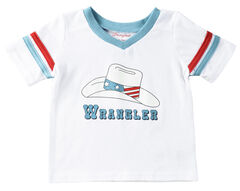 Wrangler Infant Boys' Logo with Hat T-Shirt, White, hi-res