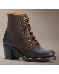 Frye Sabrina 6G Lace-Up Oiled Suede Boots, , hi-res