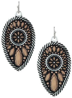 Montana Silversmiths Sunset Prairie Clover Earrings , Pink, hi-res
