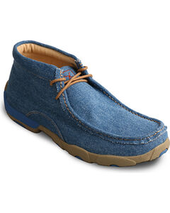 Twisted X Men's Blue Denim Driving Moccasins - Moc Toe, , hi-res