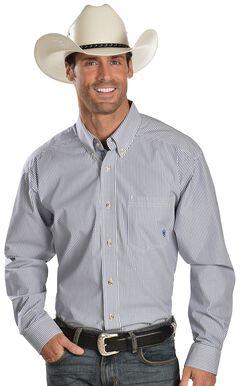 Ariat Balin Blue Striped Shirt, , hi-res