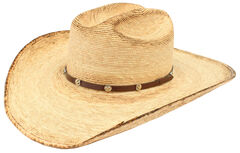 Ariat Double S Fired Palm Straw Hat, , hi-res