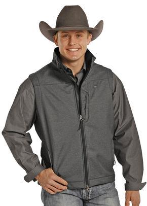 Tuf Cooper Performance Soft Shell Fleece Vest , Black, hi-res