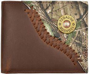 Justin Camo Overlay & Shotgun Shell Concho Bi-fold Wallet, Camouflage, hi-res